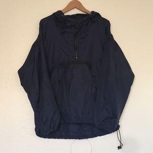 Old Navy Blue wind breaker anorak jacket